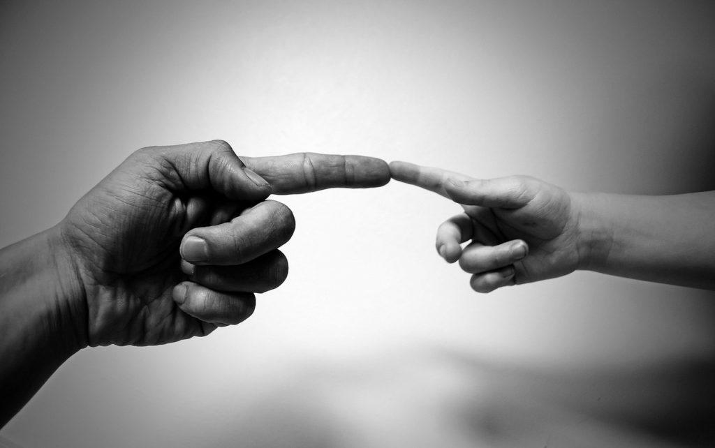 居場所-指と指