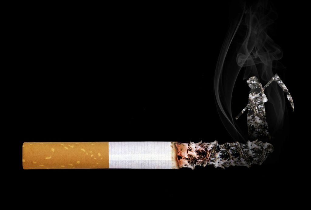 タバコから出る死神の煙