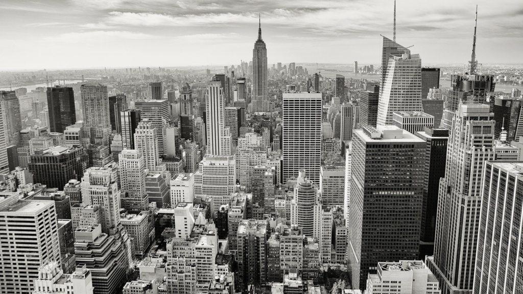 ビルの立ち並ぶ街-バブル経済